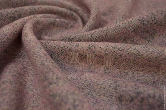 Трикотаж тёплый  розовый меланжевый. Италия. Распродажа.