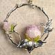 кулон подарок розовая роза лэмпворк бутон авторское украшение подарок женщине подарок девушке подарок любимой серебряный кулон серебро подарок купить подарок на день рождения
