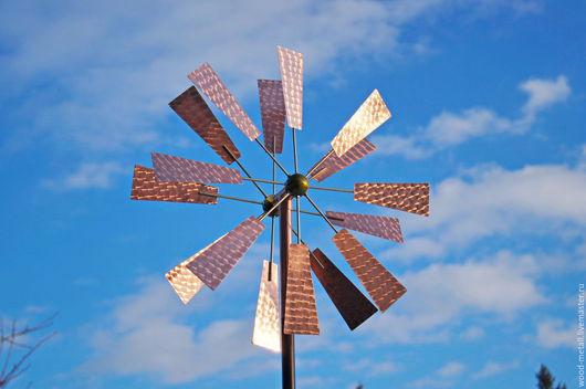 Экстерьер и дача ручной работы. Ярмарка Мастеров - ручная работа. Купить Кинетическая ветряная скульптура для сада Мельница. Handmade. сталь
