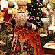Новый год 2017 ручной работы. Ярмарка Мастеров - ручная работа. Купить Дед Мороз с фонариком, дерево. Handmade. Комбинированный