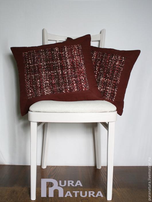 Текстиль, ковры ручной работы. Ярмарка Мастеров - ручная работа. Купить Комплект Бордо 3. Handmade. Бордовый, вишня, комфорель