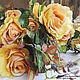 """Материалы для флористики ручной работы. Розы на ветке """"Осень"""" 1938. Sm-floristic. Ярмарка Мастеров. Декор, роза, прованс, розы"""