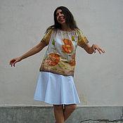 """Одежда ручной работы. Ярмарка Мастеров - ручная работа Батик блузка """"Дева степей"""". Handmade."""