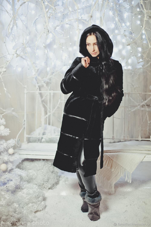 Beaver fur coat with hood, Fur Coats, Moscow,  Фото №1