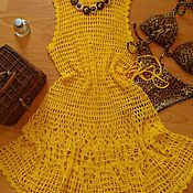 Одежда ручной работы. Ярмарка Мастеров - ручная работа Пляжное платье Каролина Амари. Handmade.