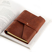 Канцелярские товары handmade. Livemaster - original item Leather notebook A5 rings with strap genuine leather Crazy Horse. Handmade.