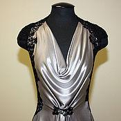 handmade. Livemaster - original item Steel long formal gown. Handmade.