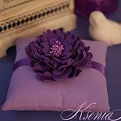 Свадебный салон handmade. Livemaster - original item Cushion for rings Pion. Handmade.