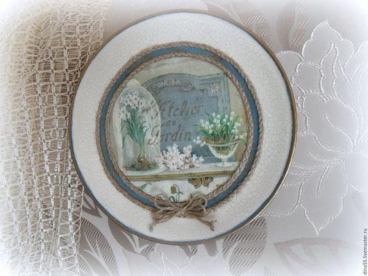 Натюрморт ручной работы. Ярмарка Мастеров - ручная работа. Купить декоративная тарелка на стену в стиле кантри. Handmade. Тарелка декоративная