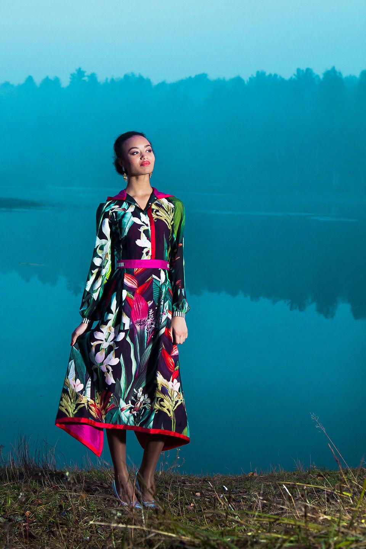 Шелковое платье-самурай, Платья, Москва, Фото №1