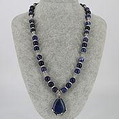 Украшения handmade. Livemaster - original item Necklace with a pendant made of sodalite stones