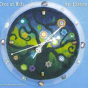 Для дома и интерьера ручной работы. Ярмарка Мастеров - ручная работа «Дерево Жизни» настенные часы. Handmade.