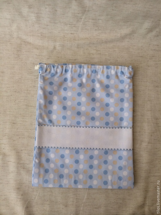 Детская ручной работы. Ярмарка Мастеров - ручная работа. Купить мешочек с канвой для вышивки. Handmade. Разноцветный, вышивка ручная