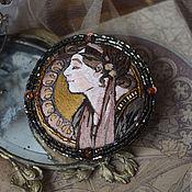 Украшения ручной работы. Ярмарка Мастеров - ручная работа брошь-портрет Art Nouveau. Handmade.
