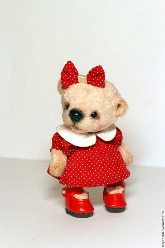 Мишки Тедди ручной работы. Ярмарка Мастеров - ручная работа. Купить Минни. Handmade. Комбинированный, мишка в одежке, коллекционный мишка