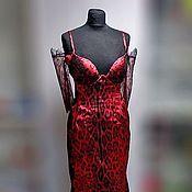 """Одежда ручной работы. Ярмарка Мастеров - ручная работа Вечернее платье """"Леопардовое""""   с чашками. Handmade."""