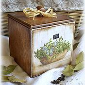 """Для дома и интерьера ручной работы. Ярмарка Мастеров - ручная работа Короб малый """"Herbs"""". Handmade."""