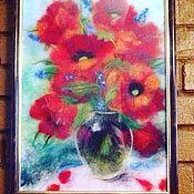 """Картины и панно ручной работы. Ярмарка Мастеров - ручная работа Картина """"Яркие Маки"""". Handmade."""