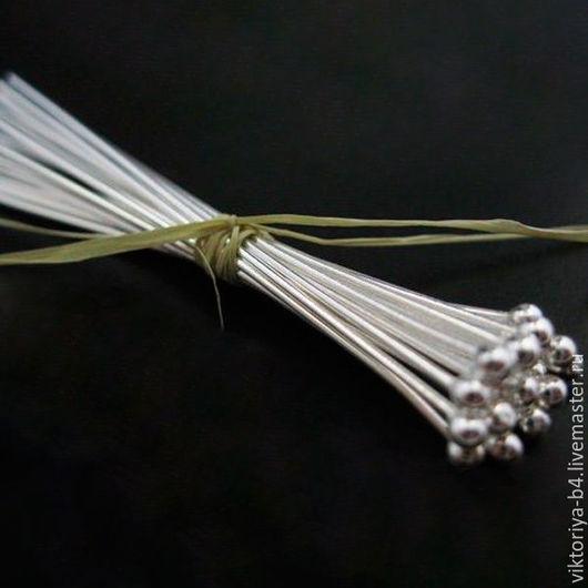 Для украшений ручной работы. Ярмарка Мастеров - ручная работа. Купить Пины серебро 925 пробы шарик 2 размера. Handmade.