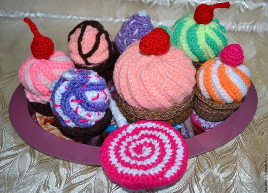 Подарочные наборы ручной работы. Ярмарка Мастеров - ручная работа. Купить Вязаные сладости. Handmade. Комбинированный, сладости, вязание на заказ