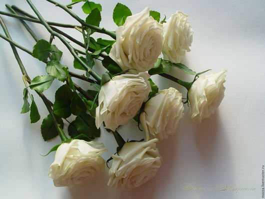 Цветы ручной работы. Ярмарка Мастеров - ручная работа. Купить Розы из полимерной глины полноразмерные. Цвет любой.. Handmade. Роза
