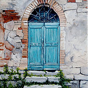 """Картины ручной работы. Ярмарка Мастеров - ручная работа Картина маслом, Венеция. """"За дверью тайна"""". Handmade."""