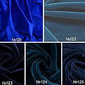 Ткани ручной работы. Ярмарка Мастеров - ручная работа Кусочки хлопкового бархата синие оттенки. Handmade.
