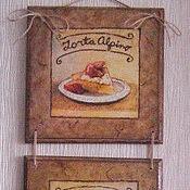 """Картины и панно ручной работы. Ярмарка Мастеров - ручная работа Панно для кухни """"Десерт"""". Handmade."""