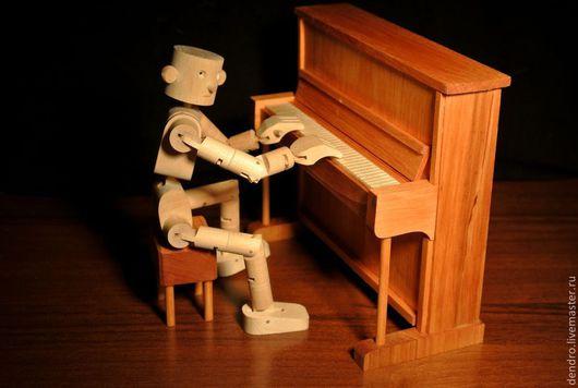 """Человечки ручной работы. Ярмарка Мастеров - ручная работа. Купить """"Маэстро"""". Handmade. Белый, подарок, игрушка ручной работы"""