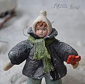 Подарки к праздникам ручной работы. Ярмарка Мастеров - ручная работа Ватная елочная игрушка ПЕТЬКА СЛАСТЕНА. Handmade.