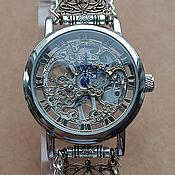 """Украшения ручной работы. Ярмарка Мастеров - ручная работа Часы -скелетоны """"Королевский синий"""" (часы наручные). Handmade."""