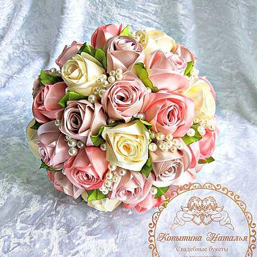 """Свадебный салон ручной работы. Ярмарка Мастеров - ручная работа Букет невесты """"Пепел розы"""" вариант 2. Handmade."""