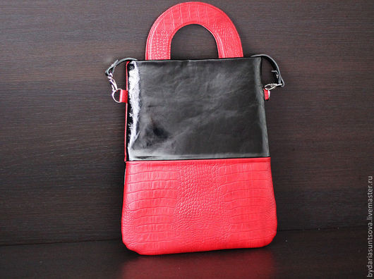 Женские сумки ручной работы. Ярмарка Мастеров - ручная работа. Купить Miami красная. Handmade. Сумка из натуральной кожи