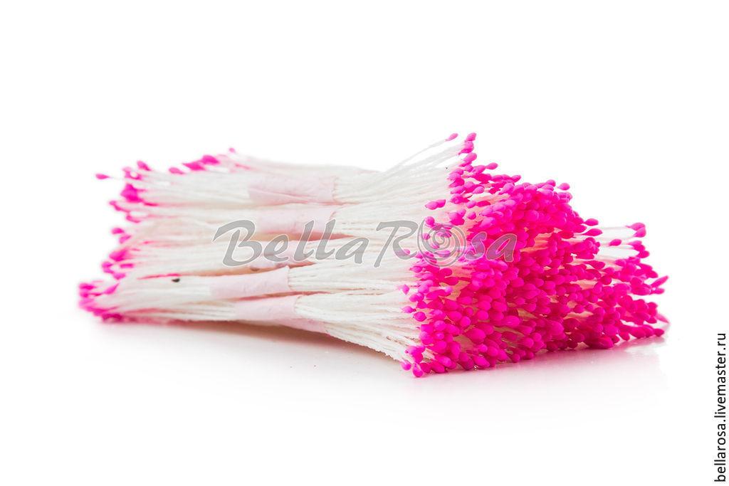 Материалы для флористики ручной работы. Ярмарка Мастеров - ручная работа. Купить 10 пучков Тычинки розовые. Handmade. Розовый, тычинки