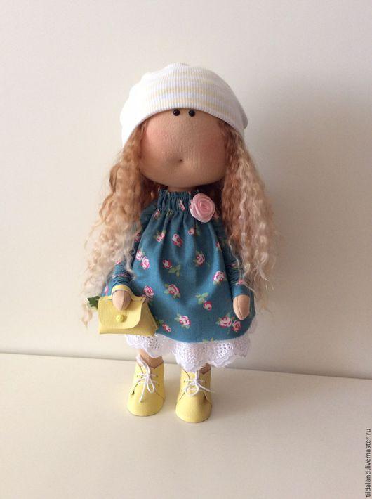 Куклы тыквоголовки ручной работы. Ярмарка Мастеров - ручная работа. Купить Andrea. Handmade. Комбинированный, подарок на любой случай, батист