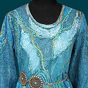 """Одежда ручной работы. Ярмарка Мастеров - ручная работа платье валяное """"Голубая лагуна"""". Handmade."""