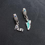 Украшения handmade. Livemaster - original item Run, RUN, pendant for runner. Handmade.