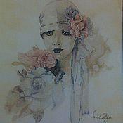 """Картины и панно ручной работы. Ярмарка Мастеров - ручная работа Картина """"Sara Moon"""". Handmade."""