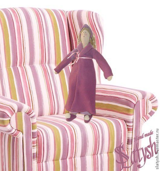 """Куклы Тильды ручной работы. Ярмарка Мастеров - ручная работа. Купить Кукла тряпичная """"Банная Тётя Мотя"""". Handmade. Сиреневый"""