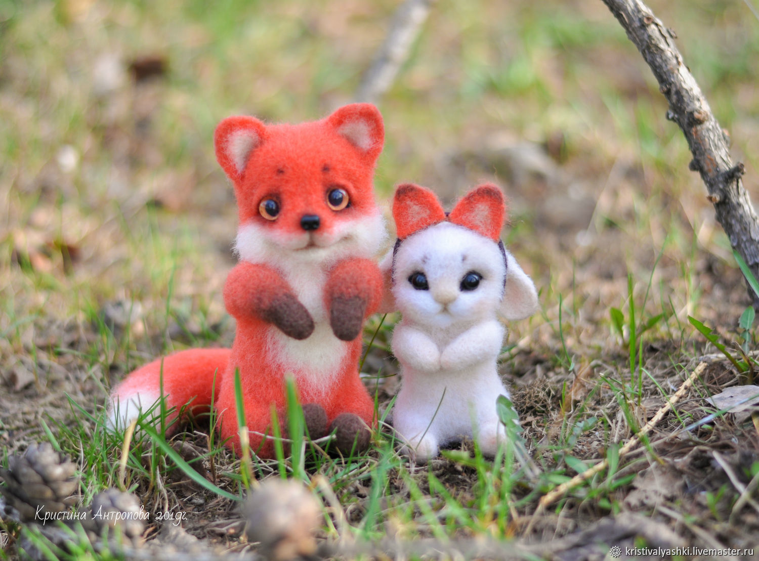 Fox and Bunny felted toy, Felted Toy, Arkhangelsk,  Фото №1