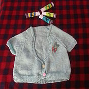 Работы для детей, ручной работы. Ярмарка Мастеров - ручная работа Детская вязанная жилетка. Handmade.