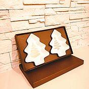 Тарелки ручной работы. Ярмарка Мастеров - ручная работа Подарочный набор новогодних тарелок Ёлочка. Handmade.