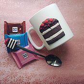 """Посуда ручной работы. Ярмарка Мастеров - ручная работа Кружка """"Шоколадный тортик"""". Handmade."""