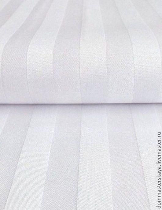 Шитье ручной работы. Ярмарка Мастеров - ручная работа. Купить 100% хлопок, Чехия, белый в белую полоску. Handmade. Хлопок