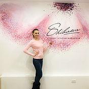 Дизайн и реклама handmade. Livemaster - original item Wall painting Flower. Handmade.