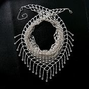 Украшения handmade. Livemaster - original item Scarf beaded necklace