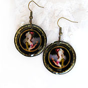"Украшения handmade. Livemaster - original item Transparent earrings ""Empress"". Jewelry resin.. Handmade."