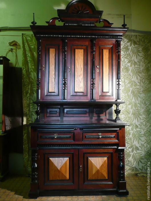 Реставрация. Ярмарка Мастеров - ручная работа. Купить Реставрация старинного буфета.. Handmade. Разноцветный, мебель из дерева, лак