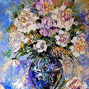 """Картины и панно ручной работы. Ярмарка Мастеров - ручная работа """"Ароматное Лето"""" картина маслом пионы. Handmade."""