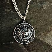 Украшения handmade. Livemaster - original item suspension: Medallion Bear with the symbol of Veles. Handmade.